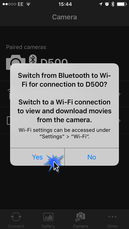 Using Nikon Wireless Utility with the Nikon D500 on iOS to