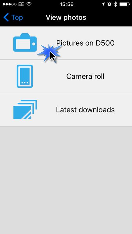Using Nikon Wireless Utility with the Nikon D500 on iOS to download